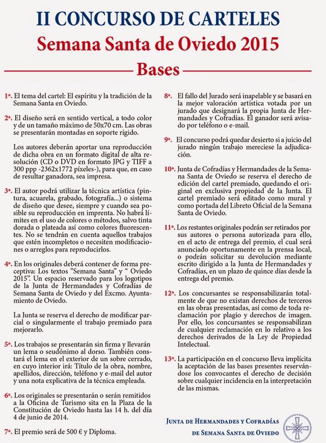 Oviedo de pasi n ii concurso de carteles semama santa for Oficina de turismo oviedo