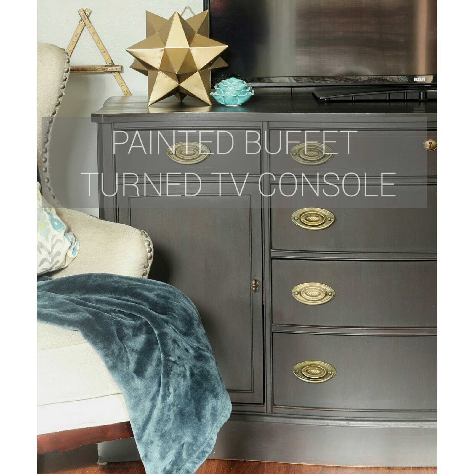 buffet tv console - Painted Tv Consoles