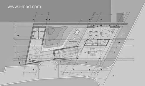 Plano de arquitectura de la planta baja de la Casa Rising