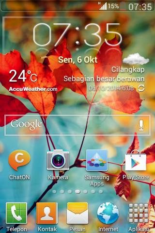 Accu Weather Transparent (Dodex) For All Tipe Samsung Galaxy 2