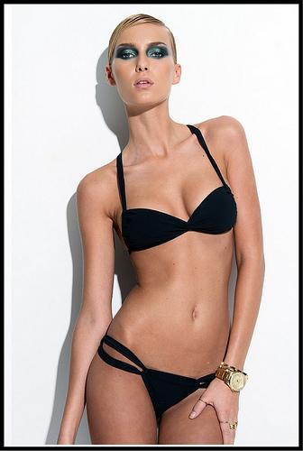 Hot Girl Wearing Black Bikini
