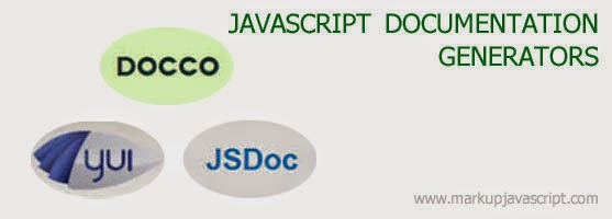 JavaScript documentation generator tools JSDoc, YUIDoc, Docco