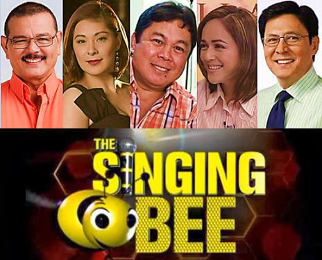Rez Cortez, Tirso Cruz III, Dennis Padilla, Tina Paner and Sheryl Cruz  on Singing Bee