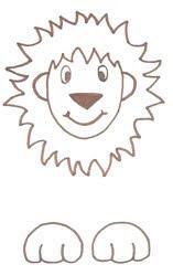 рисуем льва пошпгово
