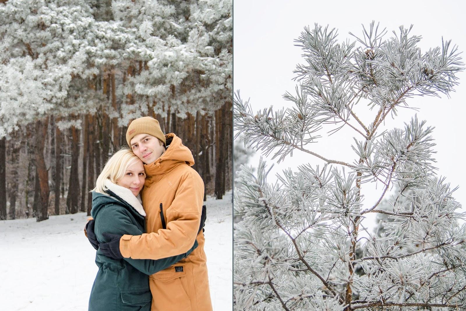 фотосет в зимнем лесу