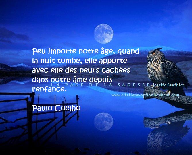 La page de la sagesse citation de paulo coelho sur la nuit - Les belles a l etoile ...
