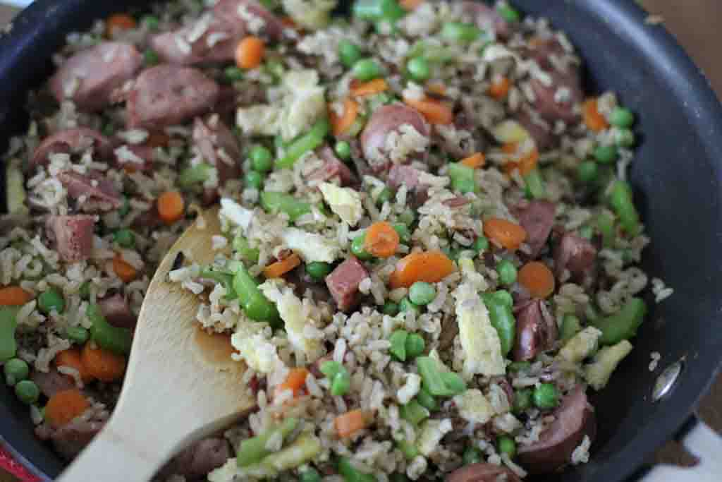 Recipe: Chicken Apple Sausage Fried Rice