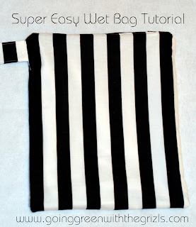 finished easy wet bag tutorial