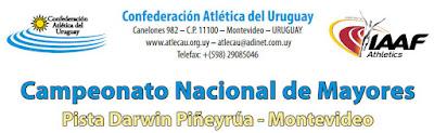 Pista - Campeonato nacional de mayores (Montevideo, 27y28/jun/2015)