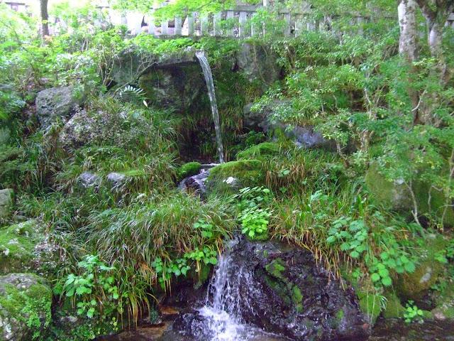 Japanese garden in Kobugahara, Japan