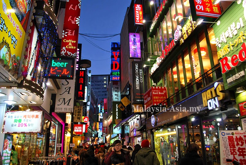 Myeongdong Shopping District in Seoul