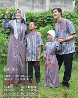 Gambar Baju Muslim Keluarga untuk Lebaran
