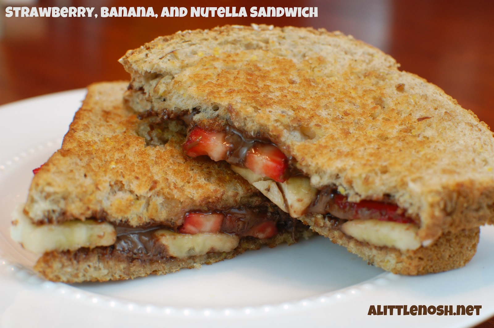 Nutella And Caramelized Banana Sandwich Recipe — Dishmaps