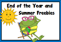 End of the Year and Summer Freebies