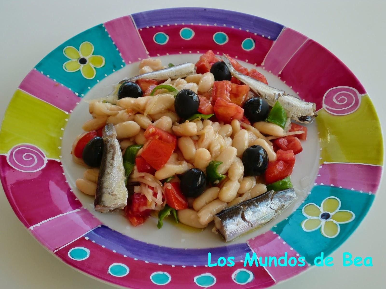 Los mundos de bea ensalada de alubias y sardinas - Ensalada de alubias ...