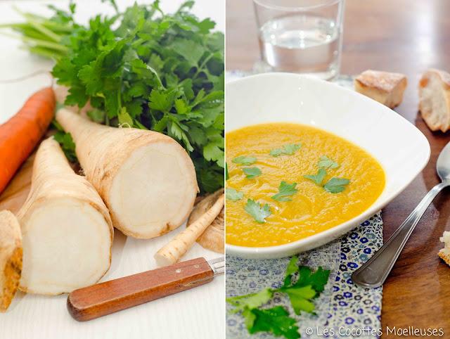soupe carotte panais cumin