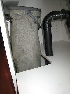 Installation Under the Sink of RubberMaid Hidden Recycler