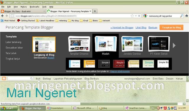 Tampilan Baru Blogger, template, new look blogger