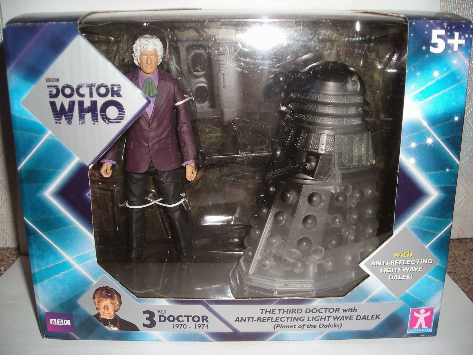 Standard fare Doctor Who packaging