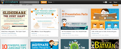 Infographic gallery on Slideshare