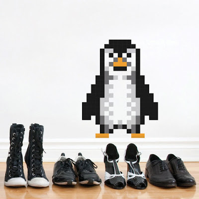 Puxxle,vinilo,pared,pixel,puzzle,decoracion,decoration,cuadrados,square,Penguin