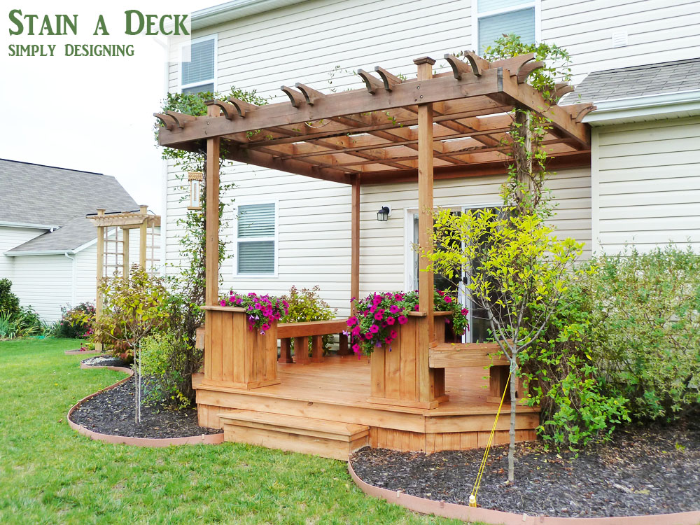 how to stain a deck and pergola. Black Bedroom Furniture Sets. Home Design Ideas