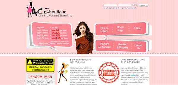 Aceboutique.com Toko Butik Online Terpercaya