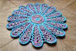 Tapete Flor Azul