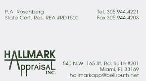 Priam A. Rosenberg, Hallmark Appraisal Inc