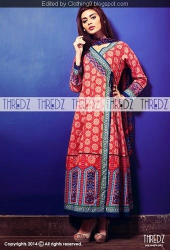 Thredz Cambric Un-stitched 3 Piece Suit