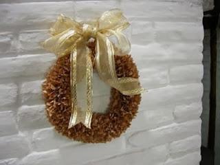 Corona de Navidad con Papel Kraft o Estraza
