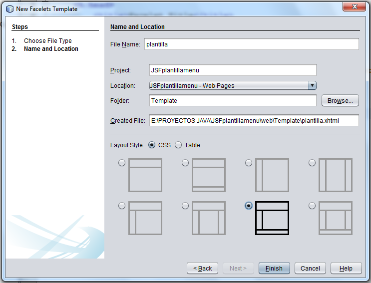 Topicos Java: Uso de Plantilla y Menu de Primefaces en JSF