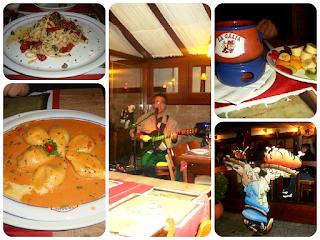 Opções do cardápio do restaurante La Gália, em Campos do Jordão