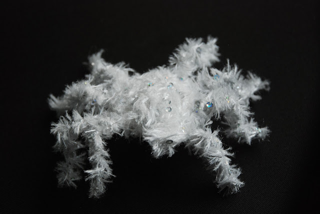 image of crochet spider