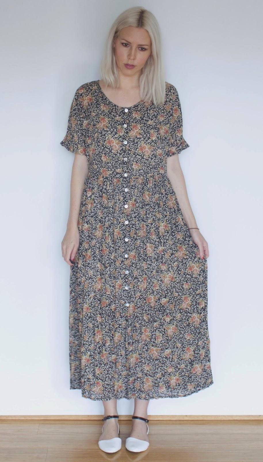 Vintage 1990s Floral Dress