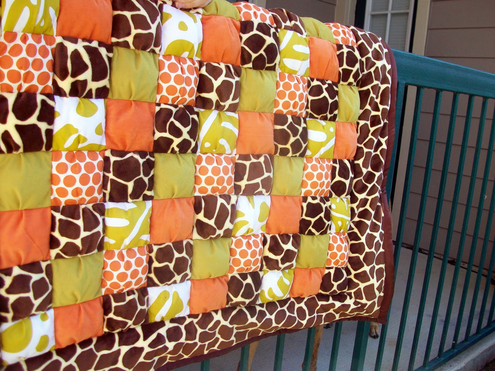 So I'm in Texas Now...: Jungle-Themed Baby Puff Quilt : jungle theme baby quilt patterns - Adamdwight.com