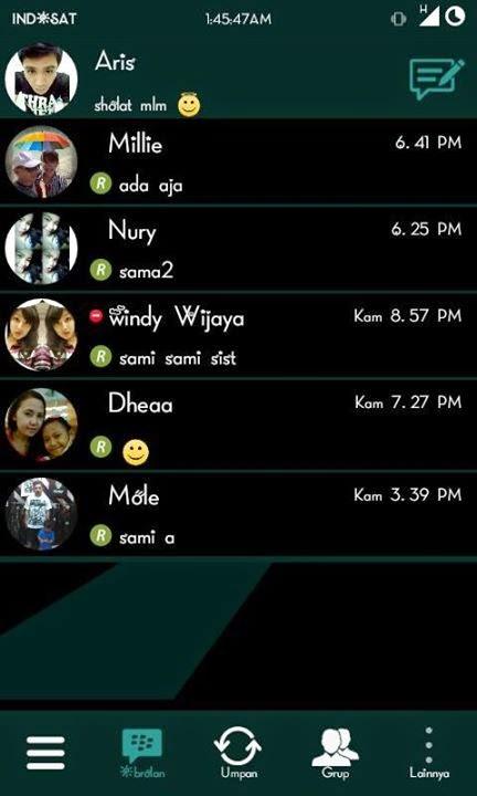 BBM Mod Black Green 2.7.0.23 + Autotext