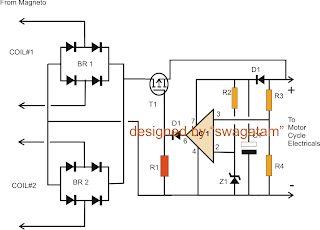 Motorcycle Full    Wave    Shunt Regulator Circuit      Diagram       wiring