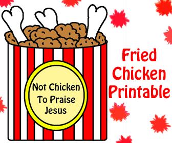 Not Chicken To Praise Jesus