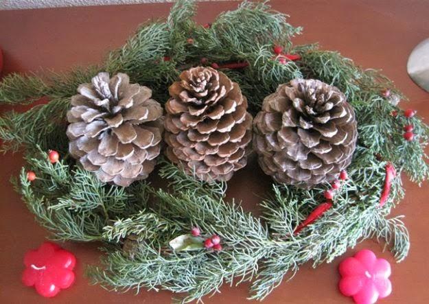 centros de mesa de navidad con pi as parte 1 On centros de navidad con pinas