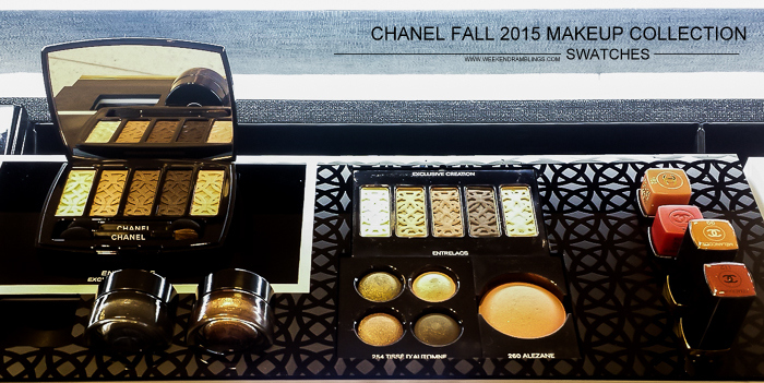 Chanel Les Automnales Fall 2015 Makeup Collection - Swatches