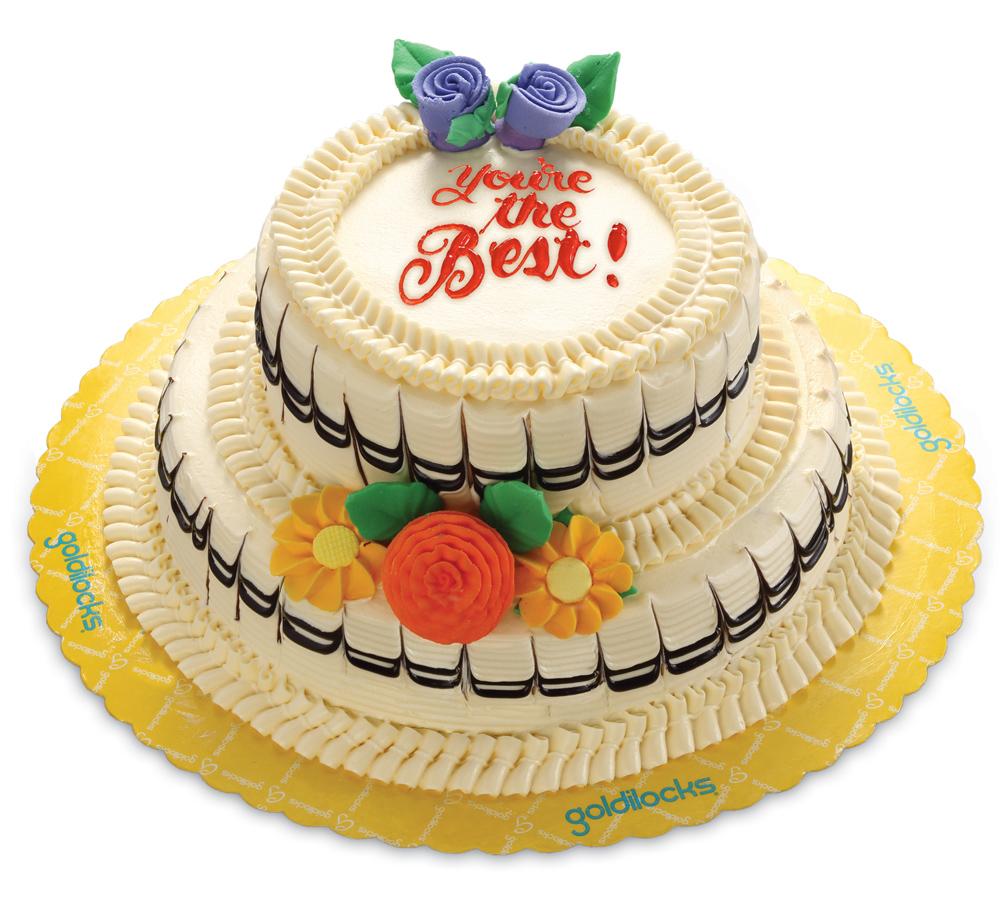 Goldilocks\' Duo Marble Layer Cake