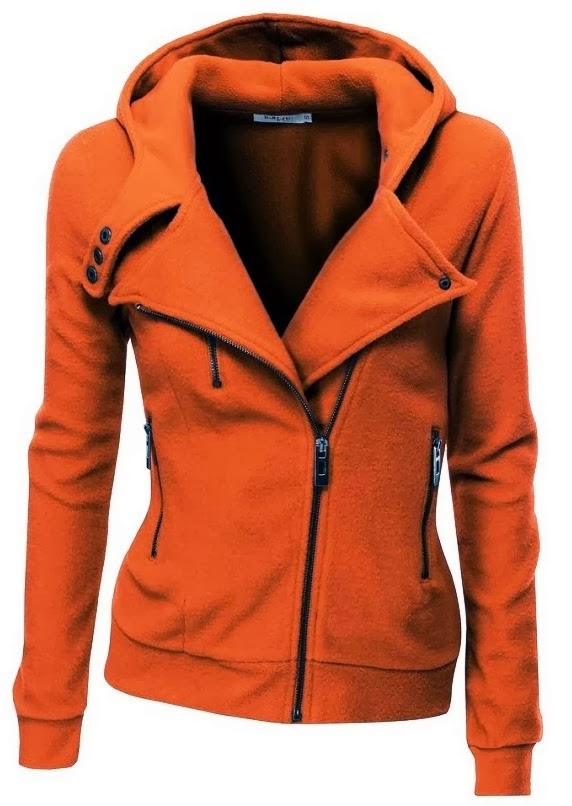 Womens Fleece Zip-up Hoodie with Zipper Point