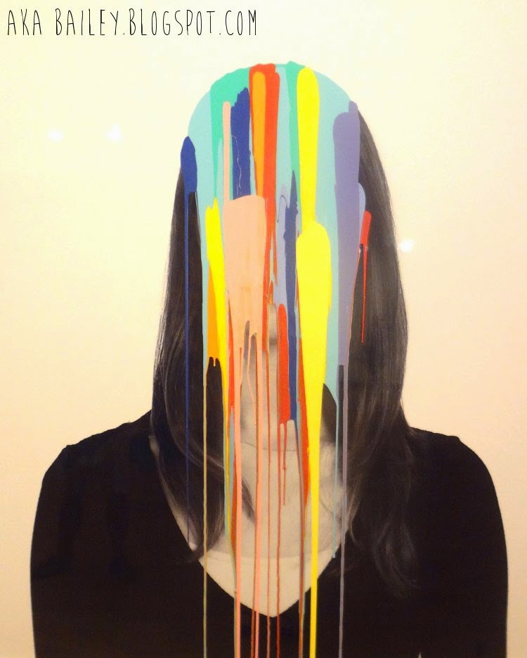 Douglas Coupland, portrait dripping with paint