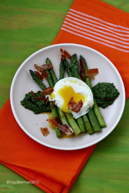 Asparagus, Crispy Ham and Poached Egg on Toast Recipe
