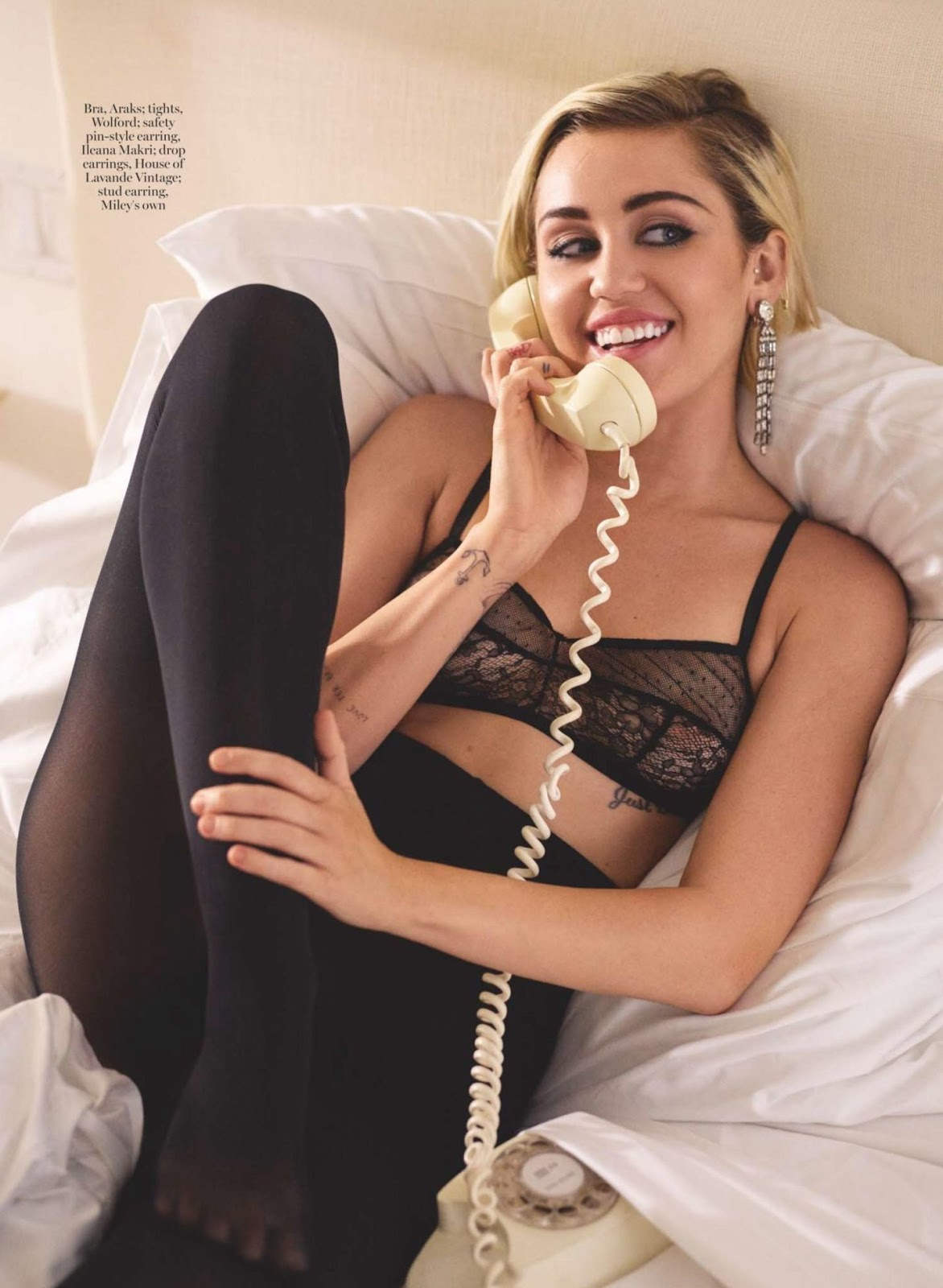Miley Cyrus in Marie Claire UK Magazine - Photo Miley Cyrus 2015