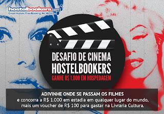 Promoção Desafio de Cinema HostelBookers