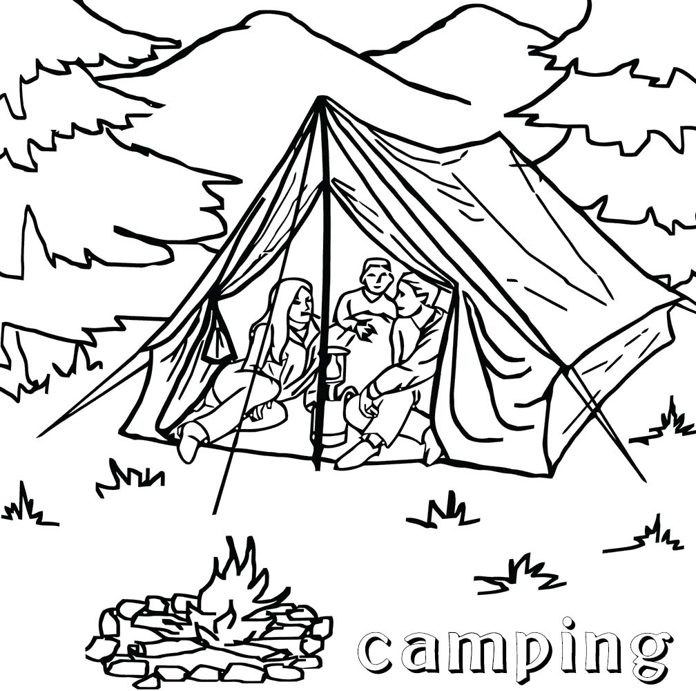 people and jobs coloring pages for kids - Camping Coloring Pages