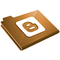 Gold Folder Blogger Logo Icon