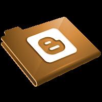 Altın Klasör Blogger Logosu Simgesi